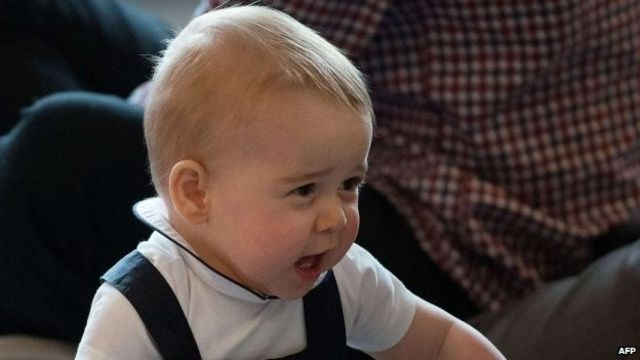 Prince George appears at first engagement of royal tour