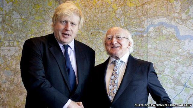 Irish President Michael D Higgins hails UK trade links at Guildhall banquet