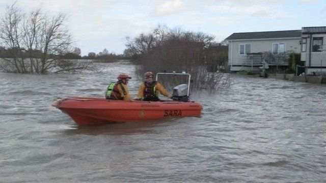 A SARA lifeboat during the floods