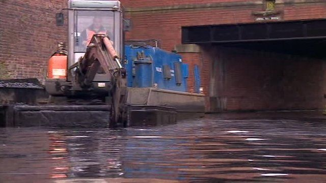 Canal dredging in Birmingham