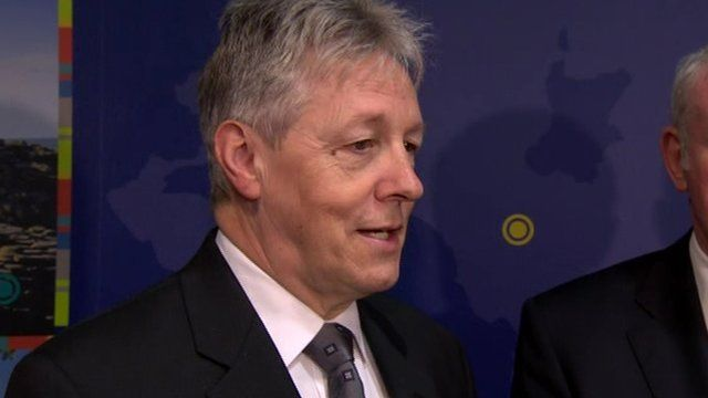 """First Minister Peter Robinson, who made the announcement on Thursday, described it as """"excellent news for Northern Ireland""""."""
