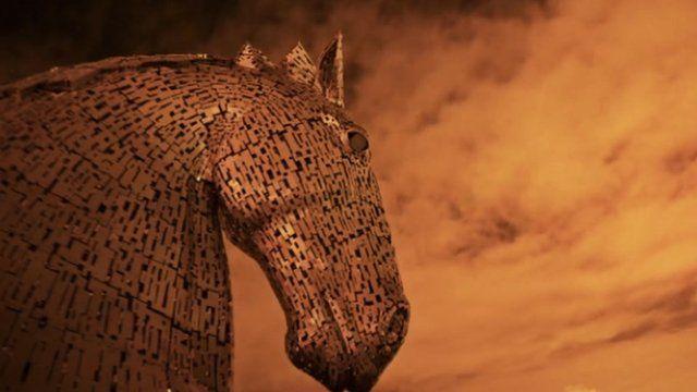The Kelpies horse sculpture