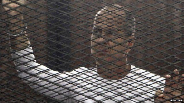 Peter Greste in jail in Cairo