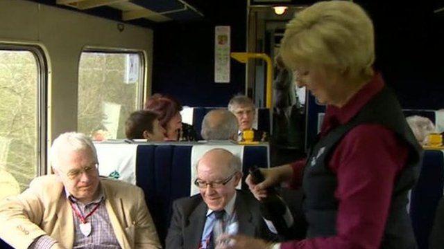 Celebrations on the Settle-Carlisle railway line