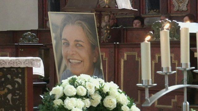 A picture of Anja Niedringhaus was displayed in church