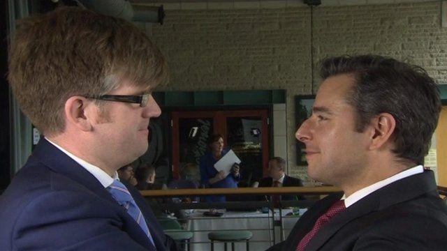 Tomos Livingstone (l) and Nick Servini