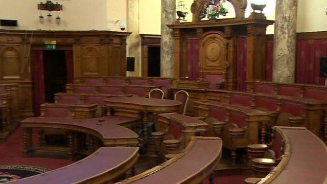A council chamber