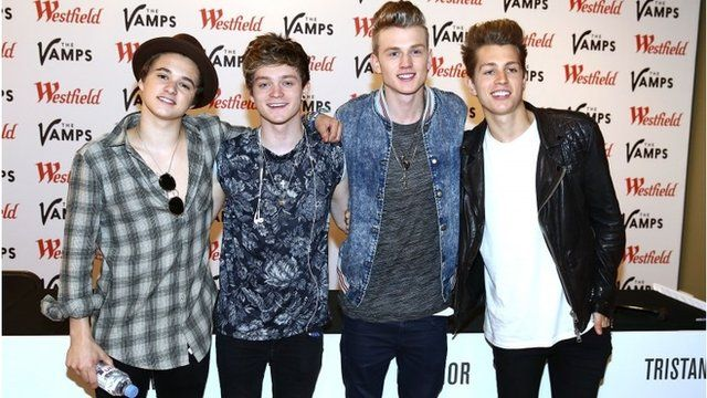 Bradley Simpson, Connor Ball, Tristan Evans and James McVey from The Vamps