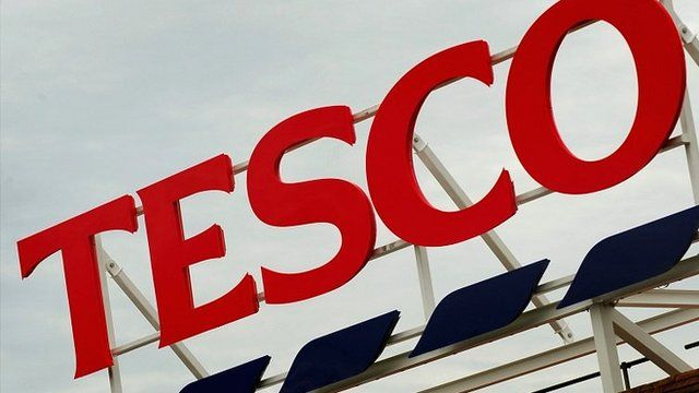Tesco store sign