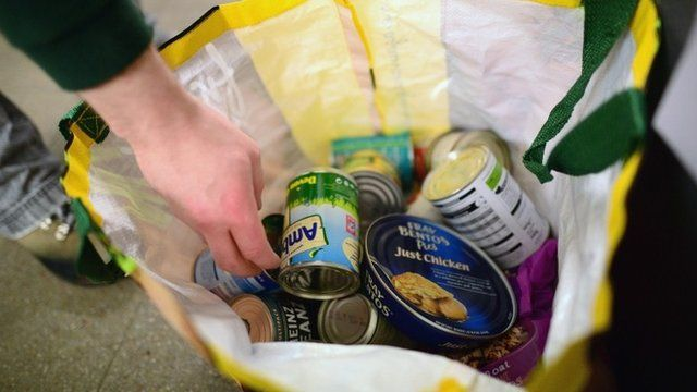 Food in a shopping bag