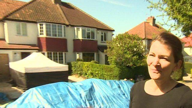 Alison Carpenter outside the house in Croydon