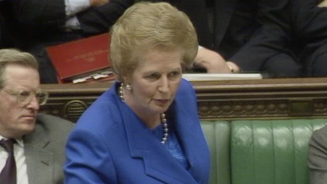 "Margaret Thatcher says ""no, no, no"" to Europe"