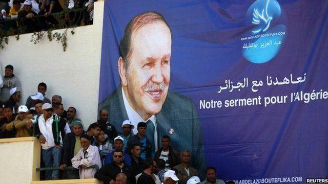 A poster of President Abdelaziz Bouteflika