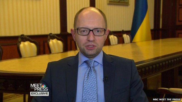 Ukraine PM Yatsenyuk: 'Putin trying to restore Soviet Union'