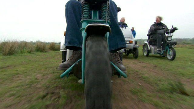 Wheelchair using ramblers