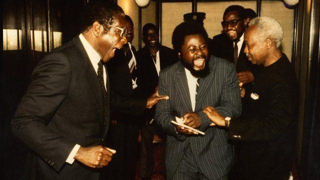 Robert Mugabe and Wilf Mbanga
