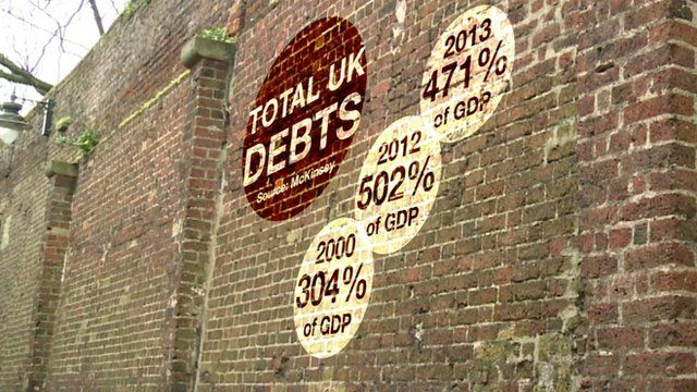 Graphic showing the UK's debt