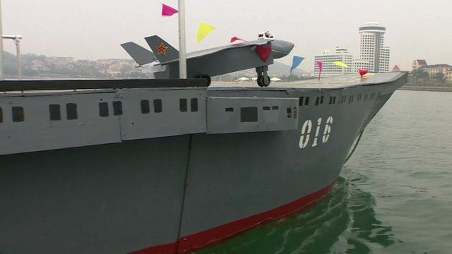 Chinese man's aircraft carrier model