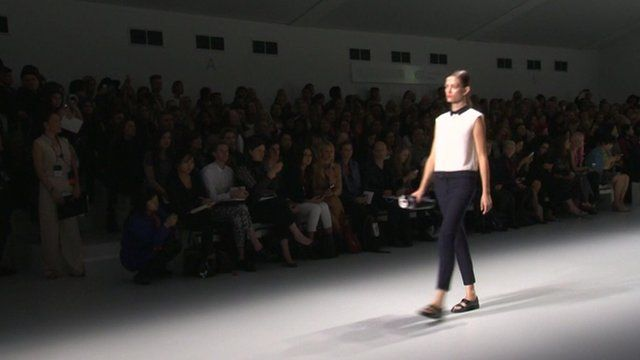 A model on a catwalk
