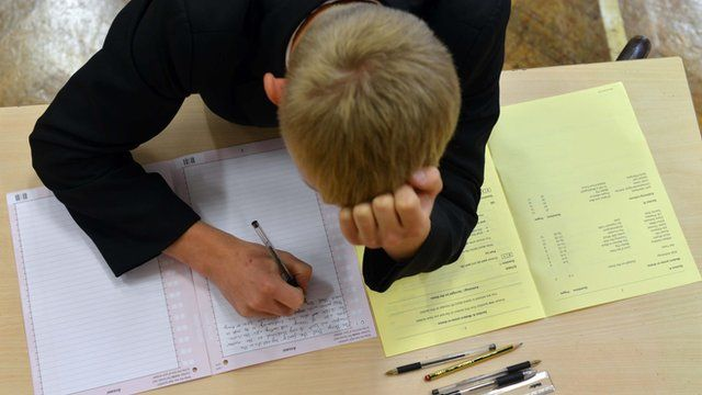 Teenager sitting exams