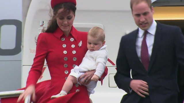 Prince George with parents
