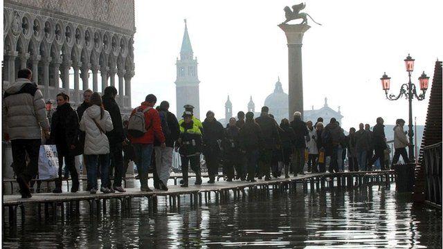 Venice in a flood