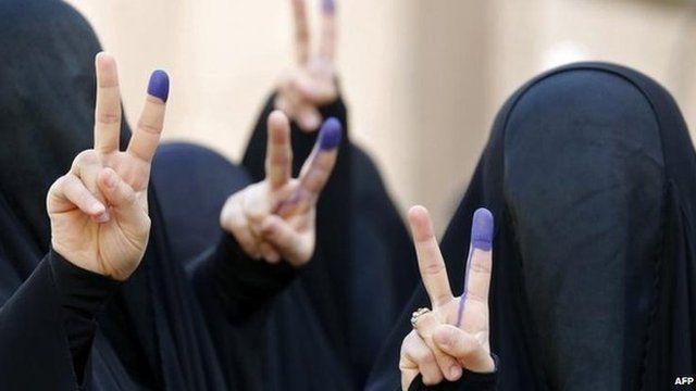 Women voters in Baghdad, 30 April