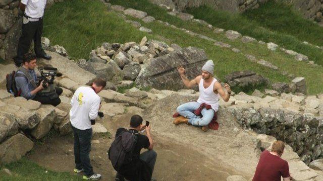 Liam Payne at the Machu Pichu site