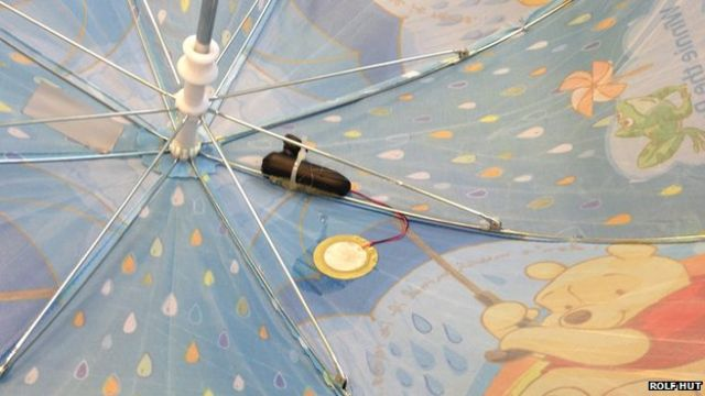 Smart umbrellas 'could collect rain data'