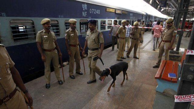 Train in Chennai station