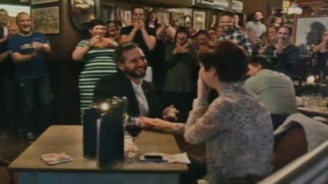 Marc Fury proposing to Naomi Coleman