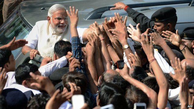 Narendra Modi in Ahmedabad, Gujarat