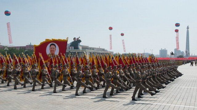 Armistice Parade in North Korea