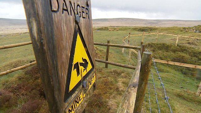 Fenced off mine shaft