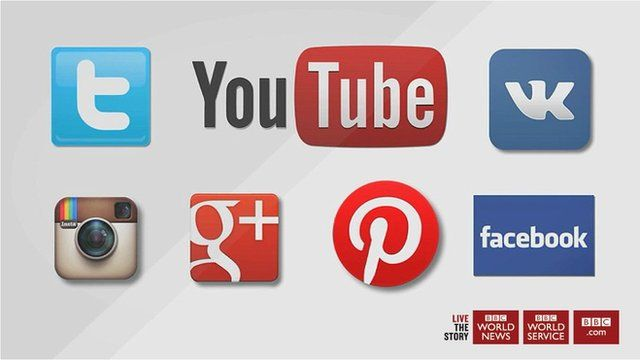 An array of social media platform logos
