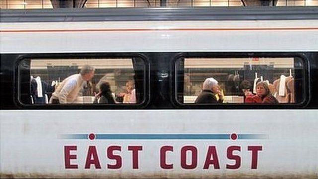East Coast main line train