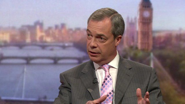 Nigel Farage on The Andrew Marr Show
