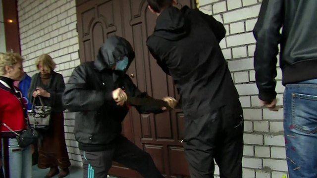 Activists storm Odessa police station