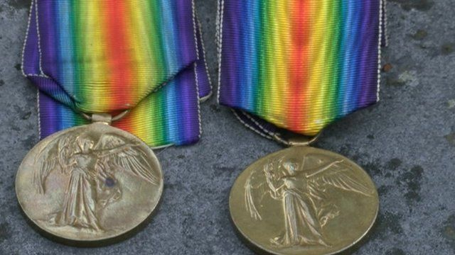Medals awarded to George and Albert Pilbeam