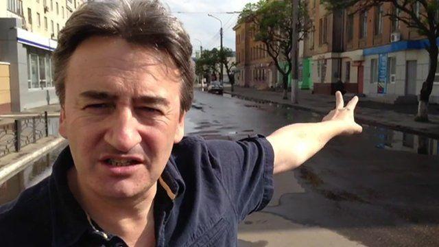 Fergal Keane in Sloviansk