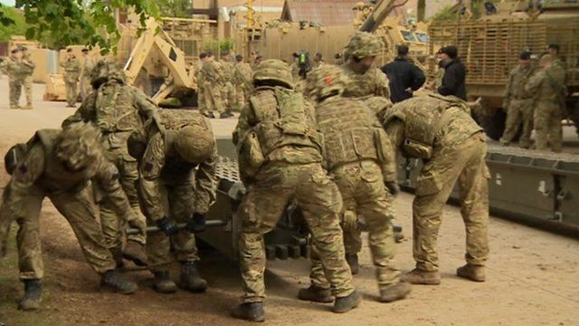 Troops on Salisbury Plain preparing for deployment to Afghanistan