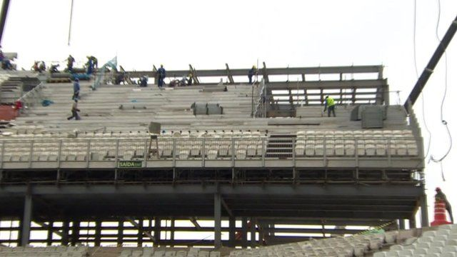 Unfinished stadium in Brazil