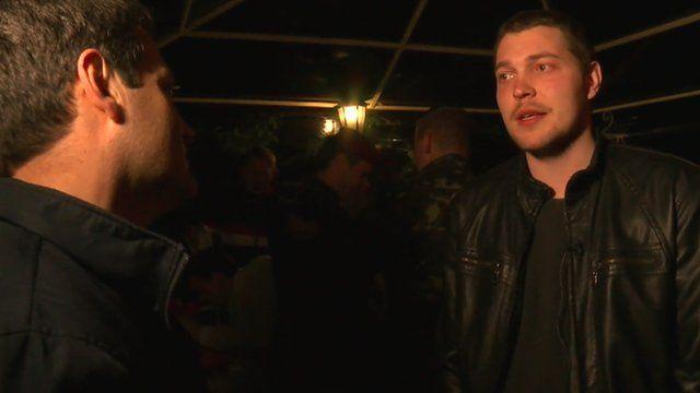Man at party in Kiev