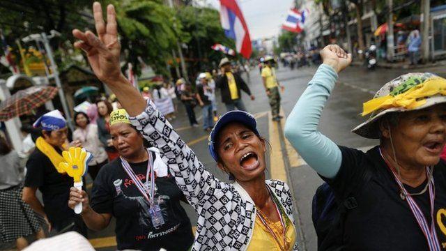 Anti-government campaigners in Bangkok