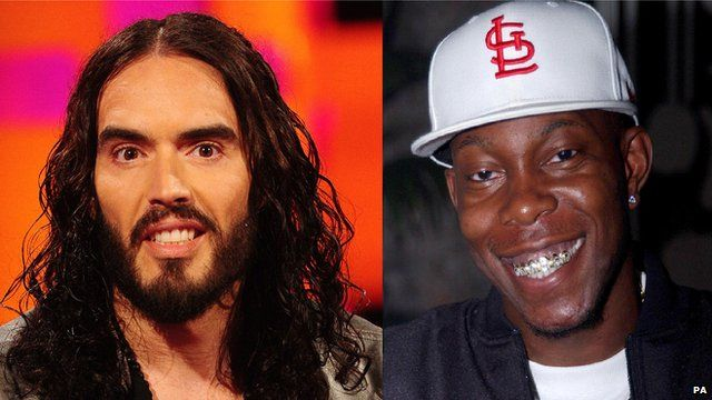 Russell Brand and Dizzee Rascal