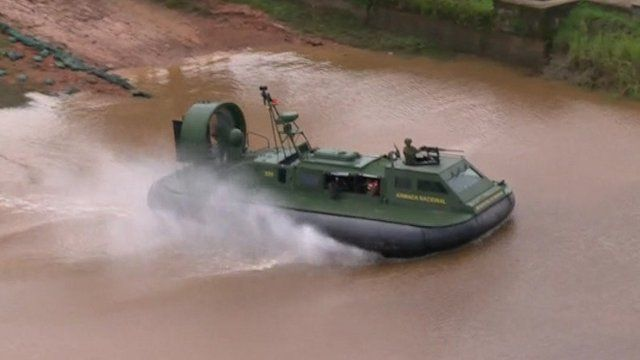 Colombian military hovercraft
