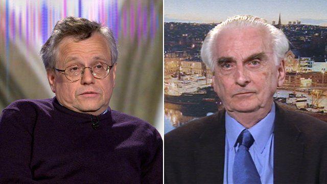 Prof Murray Pittock and Prof Hugh Pennington