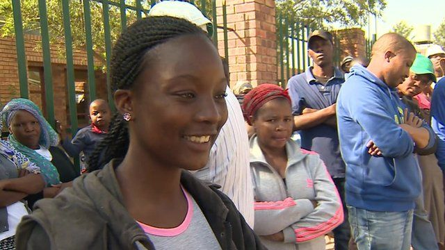 Voters queue to cast ballots in South Africa