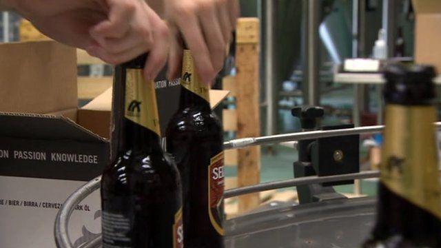 Bottling at Thornbridge Brewery, Bakewell