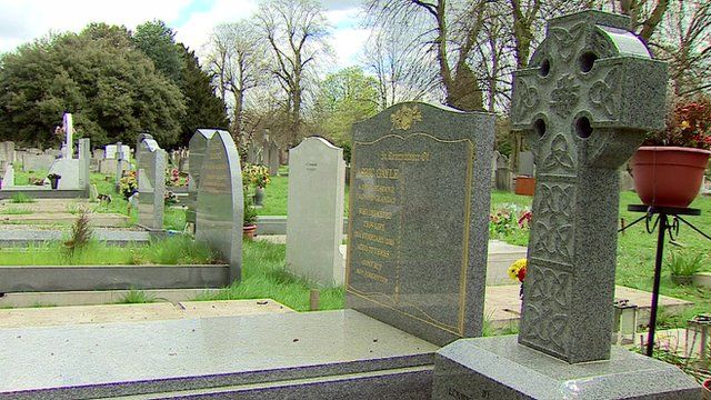 A cemetery in London